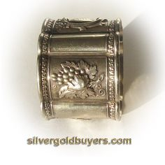 Antique Victorian Solid Silver Napkin Ring by silvergoldbuyers, $69.00
