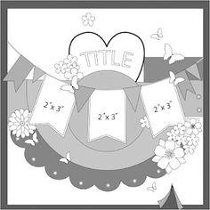 Sketchbook365 scrapbook page layout sketch #banner