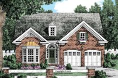 House Plans Eplans Cottage House Plan - Stunning Interior Layout - 1506 Square Feet and 3 Bedrooms(s) from Eplans - House Plan Code French House Plans, Brick House Plans, Colonial House Plans, Cottage Floor Plans, Basement House Plans, Best House Plans, Country House Plans, Dream House Plans, Small House Plans