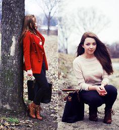 Coat, Sweater, Bag, Photo Below! Bracelet, H Pants, Romwe Shoes