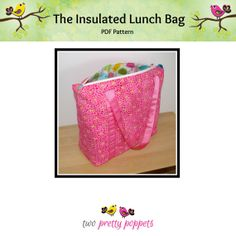 The Insulated Lunch Bag PDF Pattern  A large by twoprettypoppets, $9.00