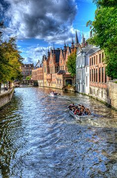 Bruges, Belgium. We were here just for a day on the tulip tour, but can't wait to return.
