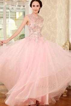 Dresswe.com SUPPLIES Luxurious Beading Lace-Up A-Line Floor Length Evening/Prom Dress Evening Dresses 2014