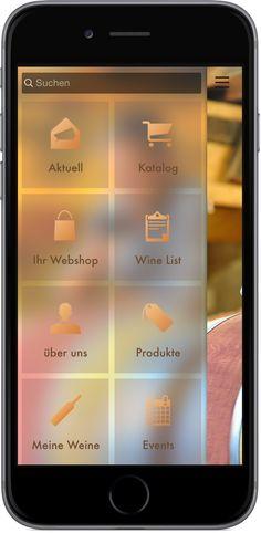 Mobile Marketing - Genau die richtigen Funktionen in der App für Vinotheken und Weinhandel http://nextvisionapps.com/de/online-demo-wein