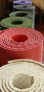 lavender, coral, colourfree, green, grey of the ecoYoga yoga mats