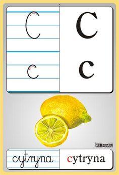 litery przedszkole - Szukaj w Google Reading Skills, Writing Skills, Kids Learning, Montessori, Alphabet, Exercise, Teaching, Education, Lettering