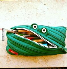 Monster pencil case I have one in purple!!!