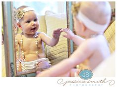 Upright Mirror Baby Girl Dressed Up Mirror Photography, Photography Poses, Wedding Photography, Cute Kids, Cute Babies, Baby Mirror, Picture Poses, Picture Ideas, Photo Ideas