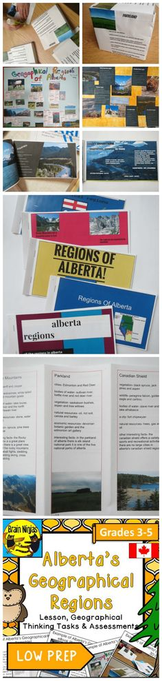 These interactive projects are great for teaching students about the different geographical regions of Canada without much prep for teachers.