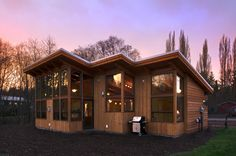 We make our TimberCab homes with Douglas fir timber frames for a custom and eco-friendly design. Contact us to start your timber frame home design today! Modular Homes, Prefab Homes, Cabin Homes, Cabana, Little Houses, Tiny Houses, Guest Houses, Tiny Cottages, Condo