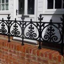 Cast Iron Railing , terrace railing , Balcony railing in Garden & Patio, Fencing. The Effective Pictures We Offer You About balcony roof A quality picture can t Balcony Railing Planters, Balcony Railing Design, Patio Fence, Glass Railing, Hammock Balcony, Patio Railing, Cast Iron Railings, Gates And Railings, Lattice Deck