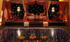 Asian Mehndy Stage - http://www.haremnights.co.uk/hen_night_theme.htm