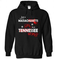 MASSACHUSETTS-TENNESSEE Girl 06Red - #tee aufbewahrung #vintage sweatshirt. PURCHASE NOW => https://www.sunfrog.com/States/MASSACHUSETTS-2DTENNESSEE-Girl-06Red-Black-Hoodie.html?68278