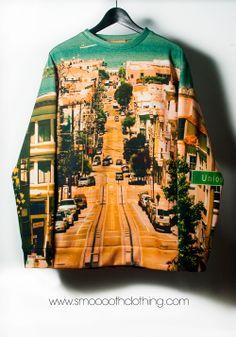 San Francisco photo print sweatshirt