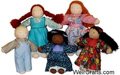 16 Waldorf Doll Making Kit by WeirCrafts on Etsy