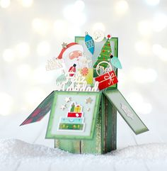 Christmas Cards, Xmas, Christmas Ornaments, Rocket Craft, Pop Up Box Cards, Exploding Boxes, Explosion Box, Scrapbooking, Diy Cards