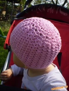 Háčkovaná čepička - vzorek Crochet Baby Hat Patterns, Crochet Baby Hats, Knit Crochet, Crochet Beanie Hat, Beanie Hats, Caps Hats, Diy And Crafts, Headbands, Knitting