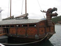 Ancient Korean turtle boat in Jinhae