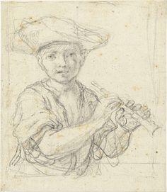 Jongetje met fluit, Federico Zuccaro, 1550 - 1609