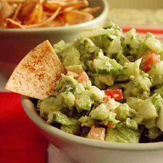 Guacamole with Chipotle Tortilla Chips | MyRecipes.com