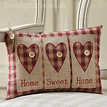Sewing Cushions Motif Heart Cushion - Home Sweet Home - Heart Cushion, Diy Cushion, Cushion Pillow, Cute Pillows, Throw Pillows, Sewing Pillows, Primitive Crafts, Primitive Pillows, How To Make Pillows