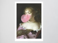 Girls Just Wanna Have Fun / Pink Bubblegum Fine Art-Print