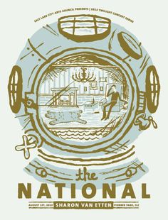 THE NATIONAL Poster - Salt Lake City Concert Series