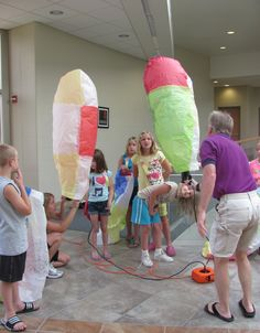 UW-Rock County's College for Kids allowed kids entering grades 2-8 to experience fun classes such as hot air ballooning and rocket launching.