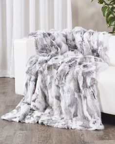 [ Natural Grey Rabbit Fur Blanket Throw Fursource Com ] - Best Free Home Design Idea & Inspiration Fluffy Blankets, Cute Blankets, Fuzzy Blanket, Throw Blankets, Throw Pillows, Cosy Bedroom, Bedroom Decor, Dream Bedroom, Bedroom Ideas