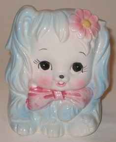 Darling PUPPY DOG Vintage  PLANTER