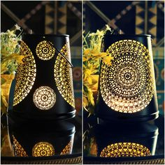 Valentine Mosaic Glass Mood Candle Tea Light Holder Candelabra Light Decor H