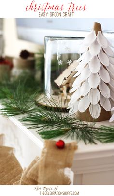 Plastic Spoon Christmas Trees - get the easy tutorial   Kim Byers, TheCelebrationShoppe.com