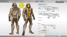 My Mukhtar design for Infinity, Corvus Belli Infinity Art, Infinity The Game, Character Sheet, Character Art, Character Design, Superhero Characters, Fantasy Characters, Armor Concept, Concept Art