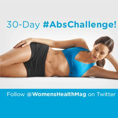 30-Day Abs Challenge - Plan to start this on August 1st to get ready for that Labor Day party!!