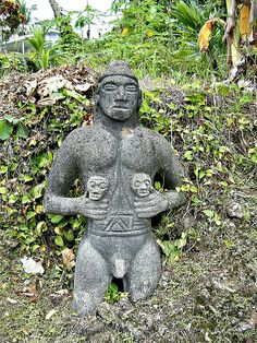 Costa Rican old statue