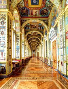 The Raphael Loggias at the Hermitage Museum in Saint Petersburg, Russia (by FCTravelPix).
