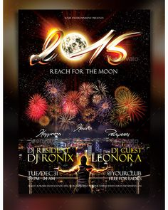 New Year Flyer Template - Party Flyer Templates For Clubs Business & Marketing