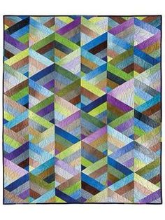 Prism Quilt from Jelly Roll Strips. Pannello geometrico