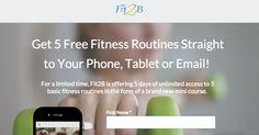 Get 5 free tummy safe fitness routines straight to your phone, tablet or email. #fit2b