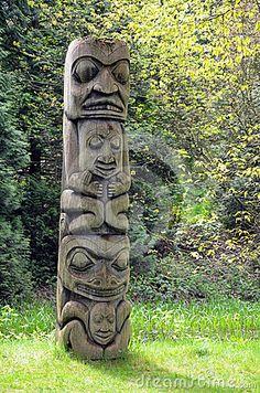 Photo about Weathered totem pole in pacific northwest forest. Image of native, historical, wooden - 24607608 Gandalf, Totem Tiki, Tiki Man, Rockabilly Art, Bike Sketch, O Hobbit, Bird Houses Diy, Darth Vader, Indigenous Art