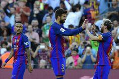 Goleadas de Barcelona, Madrid y Atlético, que sigue líder - http://www.notiexpresscolor.com/2016/10/16/%ef%bb%bfgoleadas-de-barcelona-madrid-y-atletico-que-sigue-lider/