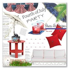 """""""Red, White & Blue - Celebrate the 4th: 01/07/17"""" by pinky-chocolatte ❤ liked on Polyvore featuring interior, interiors, interior design, home, home decor, interior decorating, Grandin Road, Pasotti Ombrelli, Enchanté and Loll Designs"""