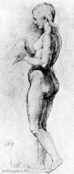Raphael, Chalk Drawing of Nude