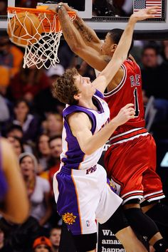 498a6c6b3a7f Derrick Rose of the Chicago Bulls posterizes Goran Dragic.