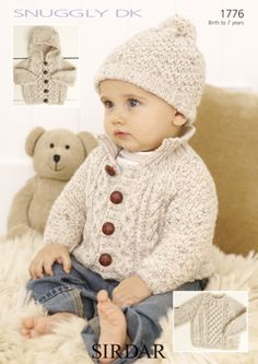 Sirdar Snuggly DK 1776 - Really cute sweater and hat for boy!