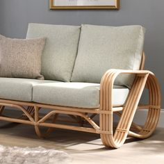 Modern. Stunning. Sustainable. The Pretzel cane furniture range is made from sustainably farmed rattan. 🌱 Natural Furniture, Cane Furniture, Small Furniture, Rattan, Wicker, Luxury Cushions, 2 Seater Sofa, Pretzel, Seat Cushions