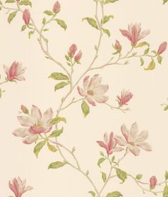 Marchwood Green / Pink wallpaper by Colefax and Fowler
