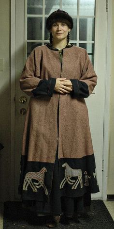 coat with applique