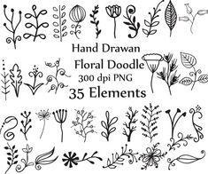Doodle flores Clip art: imágenes prediseñadas por ChiliPapers