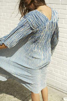 blue & white striped dress #stripes #style #fashion